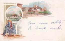 Post Card : Cairo  Le Caire  (Egypt ) Litho Nile Fountain     The Citadel     Ed Richter - Le Caire