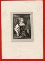 """1863 Portrait De""""CATARINA CORNARA""""  Reine De CHYPRE Par Nargeot D'après LE TINTORET : - Documents Historiques"""