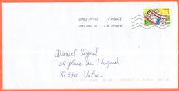 FRANCIA - France - 2016 - Lettre Verte - Viaggiata Da 39831A-02 Per Vabre - France
