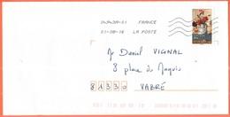 FRANCIA - France - 2016 - Lettre Verte 20g Jeanne Magnin, Oeillets - Viaggiata Da 04943A-01 Per Vabre - Francia