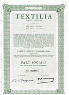 Titre Ancien - Textilia Société Anonyme - Titre De 1960 - Industrie