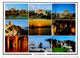 #11  Views Of Istanbul - TURKEY - Big Size Postcard - Monuments