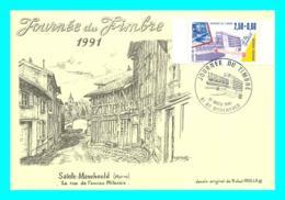 A743 / 039 51 - SAINTE MENEHOULD Journée Du Timbre 1991 - Cachet Commémoratif Timbre - Sainte-Menehould