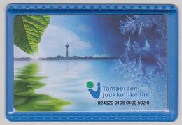 1423(10) TAMPERE, Finland. Electronic Recheargeable Urban Bus Card. Carte Réchargeable De Bus Urbain. - Europa