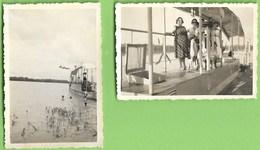 S. Vicente - 2 REAL PHOTOS, 1954 - Barco Tipíco - Cabo Verde - Cap Vert