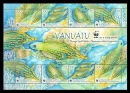 Vanuatu 2013 Mih. 1496/99 Fauna. WWF. Fishes. Orange Spotted Filefish (M/S) MNH ** - Vanuatu (1980-...)