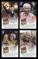 Vanuatu 2014 Mih. 1528/31 Nelson Mandela. Football. FIFA World Cup Trophy MNH ** - Vanuatu (1980-...)
