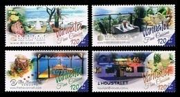 Vanuatu 2015 Mih. 1536/39 Gastronomy. Open-Air Restaurants And National Cuisine MNH ** - Vanuatu (1980-...)
