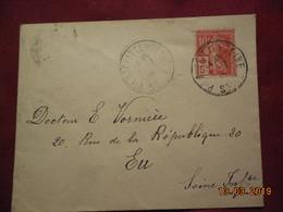 Lettre De 1915 A Destination De Eu Avec Croix Rouge - France