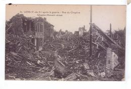 GUERRE 14 18  Grande Guerre Ruines De LENS Rue Du Chapitre Apres La Guerre - Guerre 1914-18