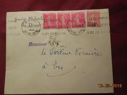 Lettre De 1938 A Destination De Eu - France