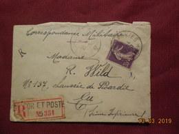 Lettre De 1915 A Destination De Eu En Recommandé - France
