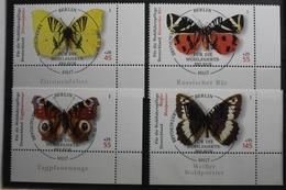 BRD 2500-2503 Gestempelt Schmetterlinge Eckrand Vollstempel #SJ040 - Sin Clasificación