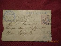 Lettre Pneumatique De 1904  A Destination De Paris Avec No 133 - France