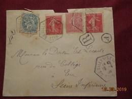 Lettre De 1906 A Destination De Eu En Recommandé (avec Deux No 134) - France