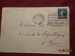 Lettre De 1925 A Destination De Eu (cachet Exposition) - France
