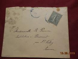 Lettre De 1904 A Destination De Boismont (cachet Bleu) - France