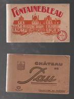Carte Postale Châteaux Carnet De Cartes Postales Sur Les Châteaux De De Pau Et Fontainebleau - Châteaux