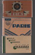 Carte Postale Lot De Carnet Incomplet Reims, Paris (photos Bromure De Luxe Série N°1), Suresnes (école De Plein-air) - Monuments