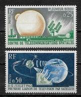 France 1962 Space, Telstar Satellite, Sc # 1047-48,VF MNH** (FR-1) - Space