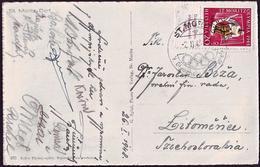 Switzerland - 1948 G - Winter Olympic Games 1948 - Postcard - Hiver 1948: St-Moritz