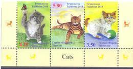 2018. Tajikistan, Cats Of Tajikistan, 3v, Mint/** - Tadschikistan