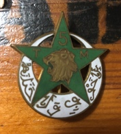 Insigne 5° RTM  (TIRAILLEURS MAROCAINS) - Esercito