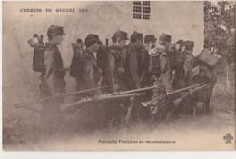 Y11- CROQUIS DE GUERRE 1914 - PATROUILLE FRANCAISE EN RECONNAISSANCE - (MILITARIA - WW1 - 2 SCANS) - Oorlog 1914-18