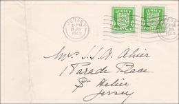 Kanalinseln:  Brief Von Jersey 1942 - Besetzungen 1938-45