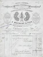 Facture Lettre 1890 - MAUBERT & VIMART à VALLAURIS (06) Parfumerie St Honorat - - 1900 – 1949