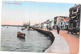 GRECE - CPA COLORISEE - Souvenir De SALONIQUE - Le Quai De Salonique  - DELC8/BES - - Greece