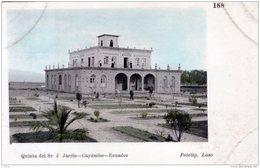 EQUATEUR ECUADOR QUINTA DEL Sr. JARRIN CAYAMBE 1910 - Equateur