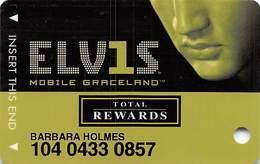 Harrah's Casino Elvis Slot Card - No Signature Strip - Casino Cards