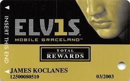 Harrah's Casino Elvis Slot Card - WITH Signature Strip - Casino Cards