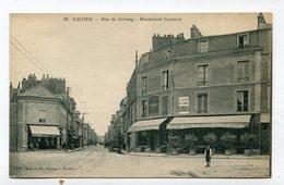 CPA 51 : REIMS  Rue De Cernay Et Bd Carteret   A  VOIR   !!!! - Reims