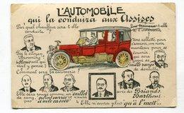 CPA   Illustrateur  : L'automobile Aux Assises     VOIR   DESCRIPTIF  §§§ - Illustrateurs & Photographes