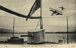CAMPAGNE DE 1914 Hydre Avion En Plein Vol RV - Aviation