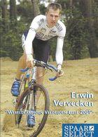 Cycliste Erwin Vervecken (Wereldkampioen, Champion Du Monde), Equipe De Cyclo-cross: Team Spaar Slect, Holland 2001 - Sports