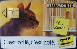 Telefonkarte Frankreich - Werbung - Katze , Cat -  50 Units - 02/93 - 1993