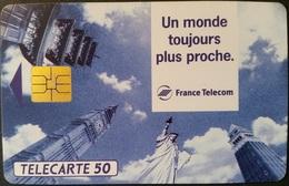 Telefonkarte Frankreich - Werbung - Sehenswürdigkeiten -   50 Units - 04/93 - Frankreich