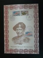 General Montgomery US Army Débarquement De Normandie 1994 Calvados - Encart Sur Soie Feuillet FDC AMIS - Guerre Mondiale (Seconde)