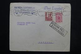ESPAGNE - Enveloppe Commerciale De Zaragoza Pour Séville En 1937 Avec Cachet De Censure - L 24894 - 1931-50 Briefe U. Dokumente