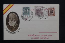 ESPAGNE - Carte Patriotique Du Général Cabanellas - à Voir - L 24898 - 1931-50 Briefe U. Dokumente