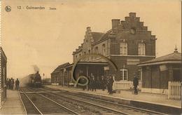 Galmaarden : Statie ( Carnet Kaart - Uitg. Drukkerij Weverbergh - Watthée  --  NELS Kaart ) Stoom Trein - Train A Vapeur - Galmaarden
