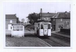 Vollezele - Galmaarden :  Station Vicinale ( TRAM )  ( Foto Van Oude Cliché 1958 - 15 X 10 Cm ) - Galmaarden