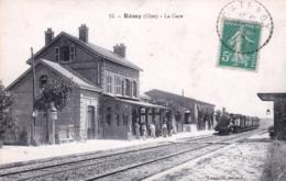 60 - Oise -  REMY - La Gare ( Arrivée Du Train Vapeur ) - Autres Communes