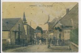 Cernoy (45 - Loiret) Route De Barlieu - édit Coqury Luxe Colorisée (état) Circulée 1911 Pour Boulanger Ouzouer Sur Loire - Altri Comuni
