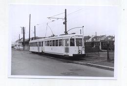 Braine-L'Alleud : Station Vicinale Et Gare SNCB-- ( TRAM )  ( Foto Van Oude Cliché - Photo Vieux Cliché  - 15 X 10 Cm ) - Eigenbrakel
