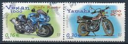 France - Collection Jeunesse 2002 - Motos YT 3512+3517 Se Tenant Obl - France