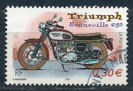 France - Collection Jeunesse 2002 - Triumph Bonneville 650 YT 3515 Obl - France